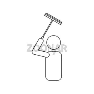 Window Cleaner Icon Vector