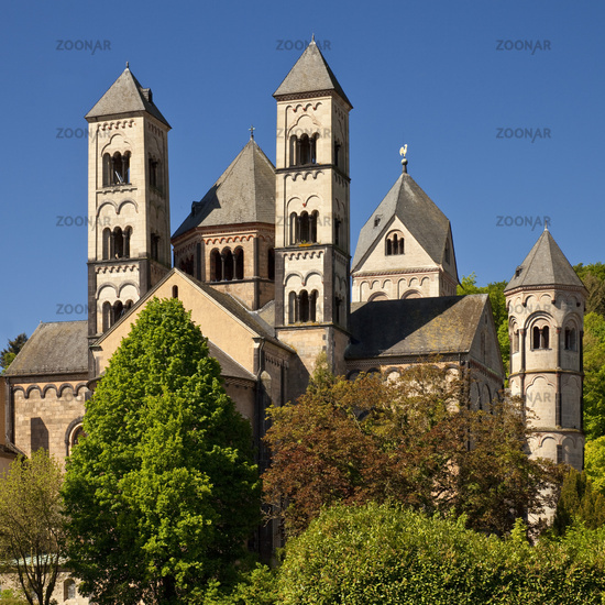 Maria Laach Abbey, Glees, Eifel, Rhineland-Palatinate, Germany, Europe