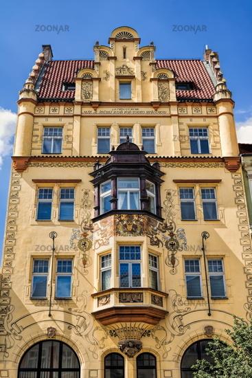Prague, renovated old building
