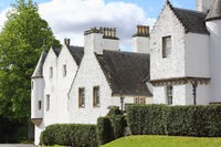 Stepped gable at the Blair Castle in Scotland
