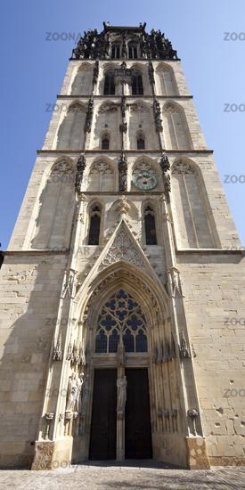 Ueberwasserkirche, also called Liebfrauenkirche, Muenster, North Rhine-Westphalia, Germany, Europe