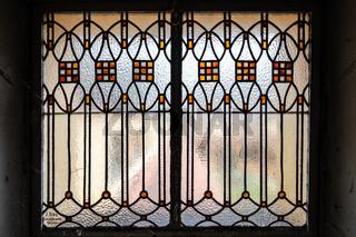 Jugendstilfenster im Jugendstilbad Sprudelhof