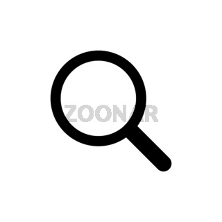 Magnifying glass or icon. Search symbol in flat