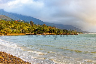 Beach at Ilhabela island at afternoon
