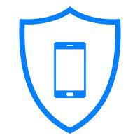 Smartphone und Schild - Smartphone and shield
