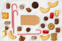 Candy Christmas Collection, Label, Copy Space, White Background