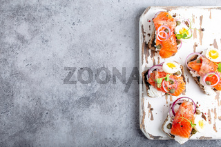Scandinavian open faced sandwich