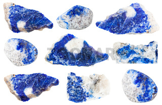 collection of various Lazurite stones