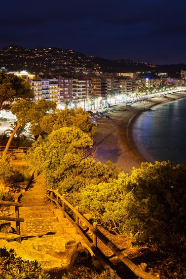 Town of Lloret de Mar at Night