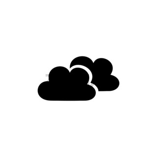 Clouds. Isolated icon. Weather vector illustration