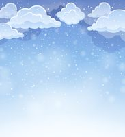 Winter sky theme background 4