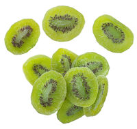 Dried kiwi fruit isolated on white