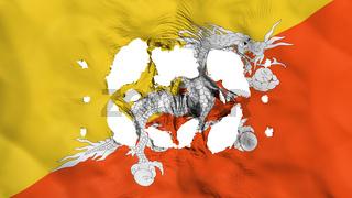 Holes in Bhutan flag