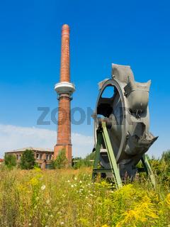 Braunkohletagebau und das Schaufelrad von einem Schaufelradbagger