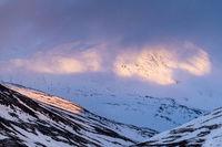 Evening mood, Akka massif, Lapland, Sweden