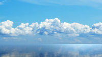 Horizon of the sea in the Atlantic