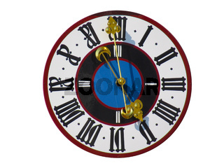 historische Kirchturm-Uhr