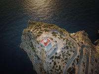 The lighthouse of Cap Formentor in the northeast of Mallorca