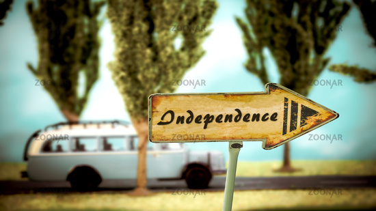 Street Sign to Independence