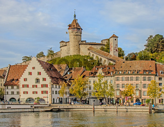 Altstadt und Festung Munot Schaffhausen, Schweiz