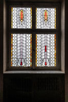 Art Nouveau windows in the spa sprudelhof Bad Nauheim