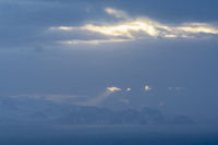 Evening mood, Barents Sea, Soeroeya Island, Finnmark, Norway