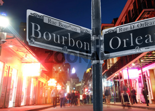 Bourbon Street view in New Orleans