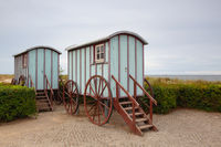 Funny Bathing Cabin on Usedom island, Germany.