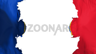 Blasted Bucharest flag