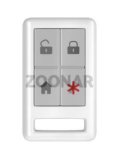 Home alarm remote control