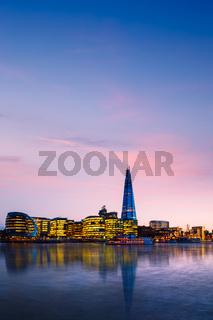 Panoramic View of City London in UK.