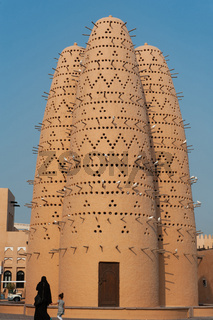Beautiful Pigeon Houses or Dovecotes in the Cultural Village of Katara in Doha