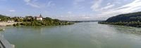 river Danube downstream of the hydroelectric power plant Ybbs-Persenbeug