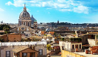 View of St. Peter's Basilica in Rome from the Spanish Steps