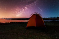 camping in africa wilderness with starry sky