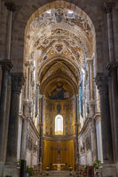 Interior of the Cathedral-Basilica of Cefalu, Sicily, Italy
