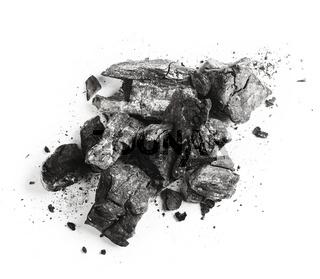 charcoal isolated