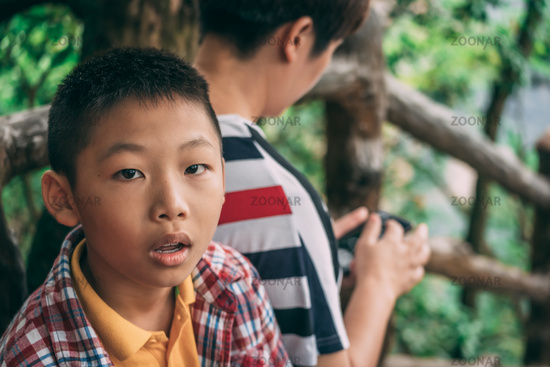 Portrait of a young chinese boy