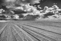 On the amazing Sonderstrand beach on the Romo peninsula, Jutland, Denmark.