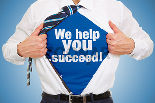 Consulting Konzept mit Slogan unter Business Hemd