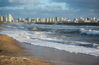 Punta del Este beach in Uruguay, Atlantic Coast