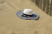 Beach hat with sunglasses