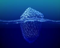 The metaphor of Big Data, an iceberg in the deep sea.