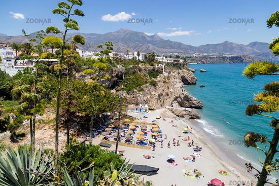 Calahonda Beach in Nerja, Spain