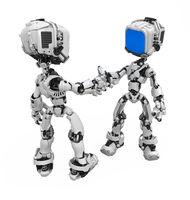 Blue Screen Robot, Handshake
