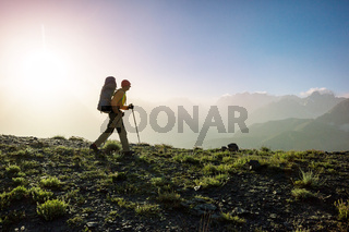 Hike in Fann mountains