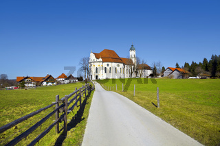 Famous 'Wieskirche' in Bavaria, Allgäu, Germany. UNESCO World Heritage Site.