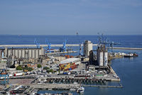 cranes, industrial facilities, port, Ancona, Italy, Europe