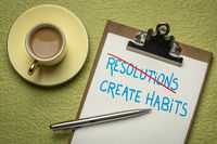 create habits instead of resolutions