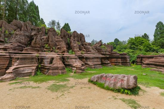 Park of red stones Hongshilin - Hunan China